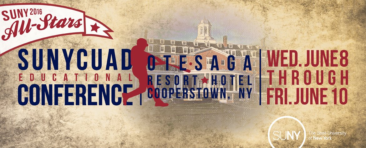 Register Now for the 2016 SUNYCUAD Educational Conference, June 8-10 in Cooperstown